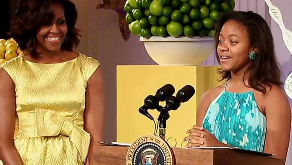 Haile Thomas with Michele Obama