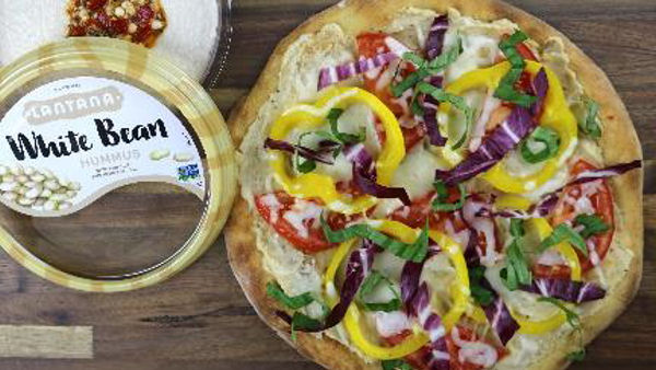 Vegan Recipe: White Bean Hummus Pizza