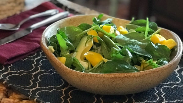 Vegan Recipe: Spinach, Fennel and Mango Salad