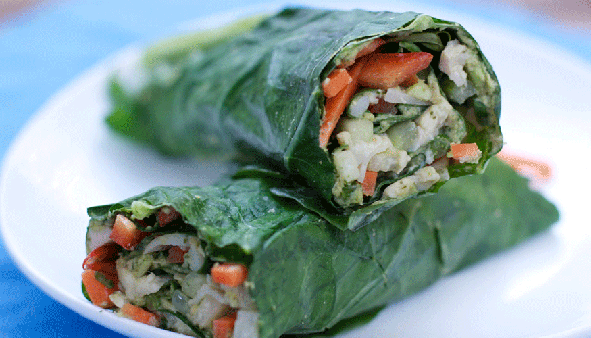 Vegan Recipe: Veggie Wraps with Herbed Hummus