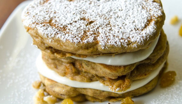 Vegan Breakfast Recipe: Seven Grain Carrot Cake Pancakes