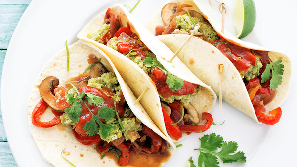 Recipe: Forks Over Knives Veggie Fajitas