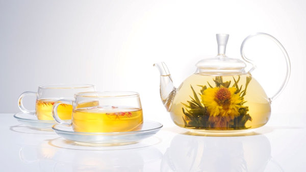 Watch A Flower Bloom Right Before Your Eyes In Your Tea