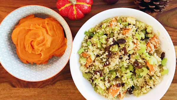 Vegan Recipe: Sweet Potato Quinoa Stuffing
