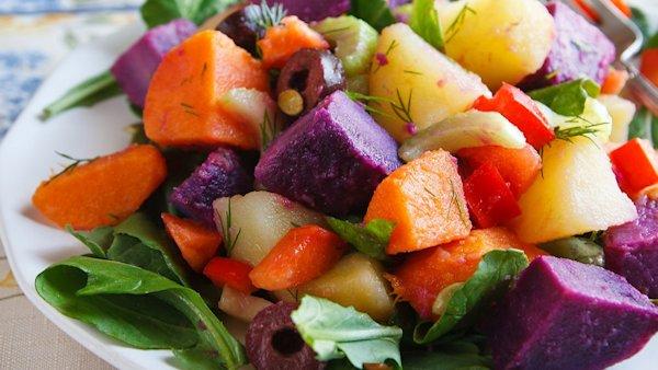 vegan three potato salad