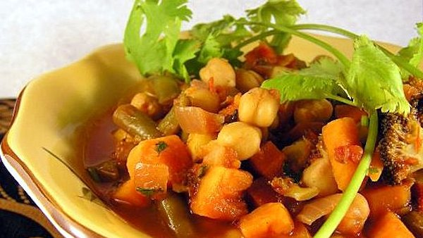 Moroccan roasted vegetable stew