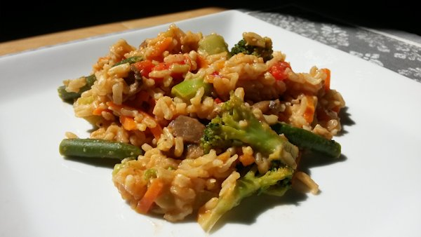 Thai rice and veggies