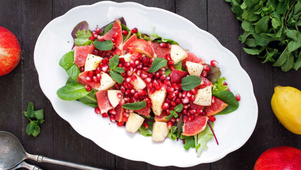 Apple, Grapefruit, Pomegranate Salad