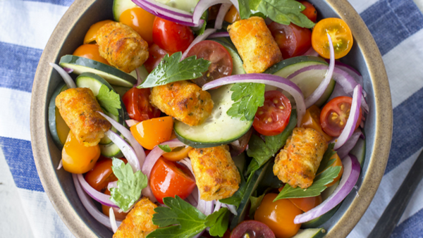 Crispy Carrot Puff Salad