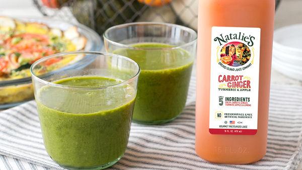 Natalie's Carrot Ginger Green Smoothie