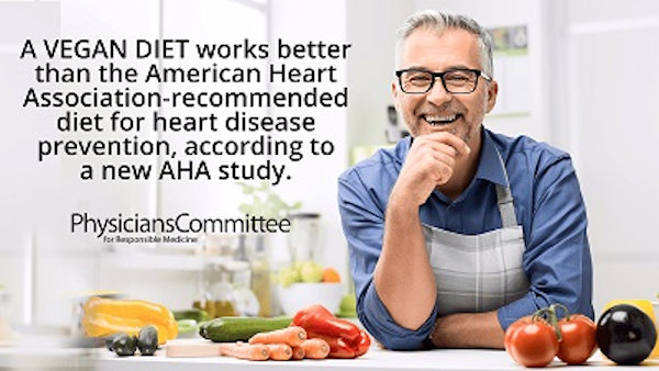 Vegan Diet Reduces Inflammation More than AHA-Recommended Diet