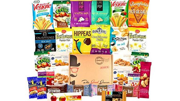 The Good Grocer Healthy Vegan Snacks Care Package