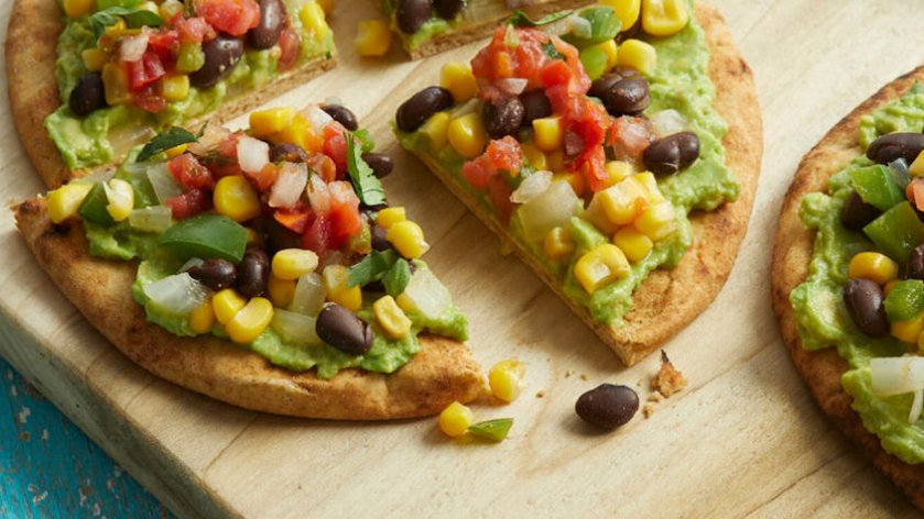 Vegan Recipe: Tex-Mex Pita Pizzas