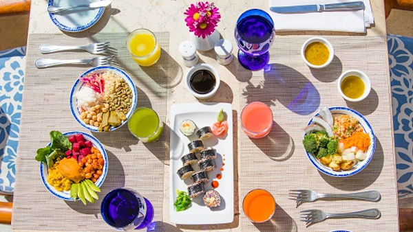 Vegan Sushi, Fit Bowls and Healthy Juices at Luxury Mexican Resort