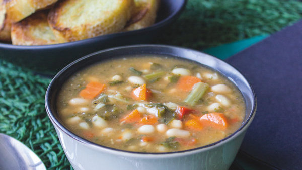 Vegan Recipe: Kale White Bean Soup