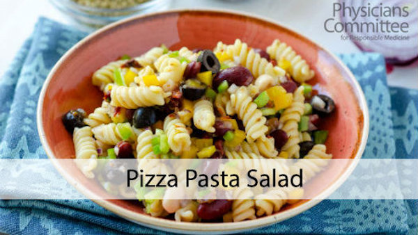 Vegan Recipe: Pizza Pasta Salad