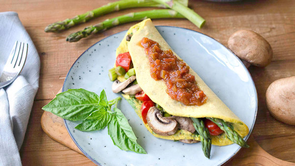 Vegan Recipe: Leftover Veggie Chickpea Omelette