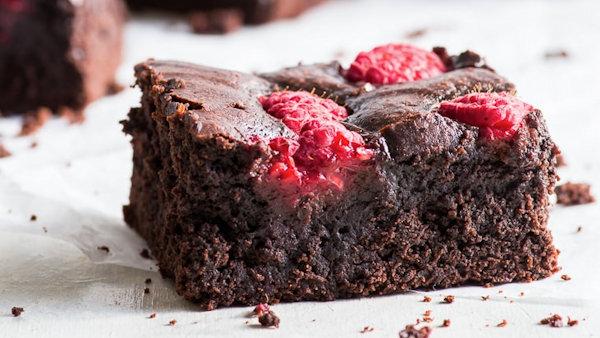 Raspberry Fudgy Brownies