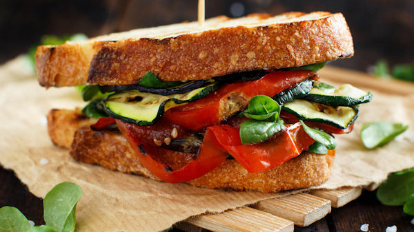 Vegan Recipe: Balsamic Zucchini Sandwich