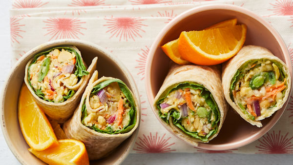 Vegan Recipe: Rainbow Veggie Slaw Wraps