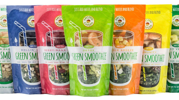 Frozen Garden: Vegan Ready-to-Blend Green Smoothies