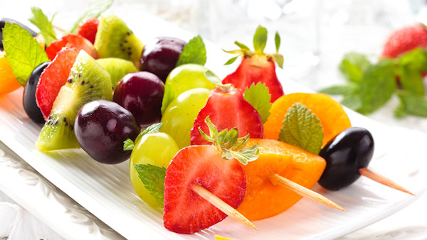 Vegan Recipe: Minted Fruit Kebabs
