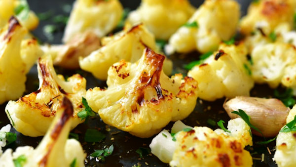 Vegan Recipe: Lemony Roasted Cauliflower