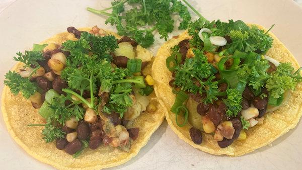 bean potato tacos