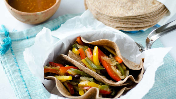 Vegan Recipe: Vegetable Fajitas with Brown Rice