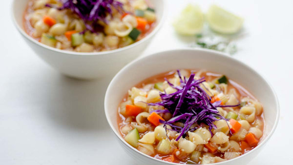 Vegan Recipe: Macaroni Soup with Vegetables