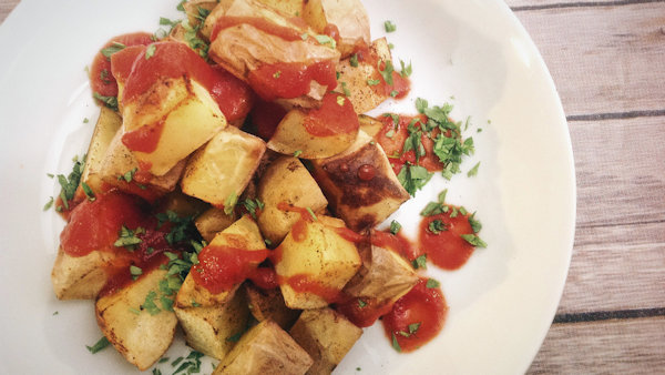 Vegan Recipe: Spanish Spicy Patatas Bravas